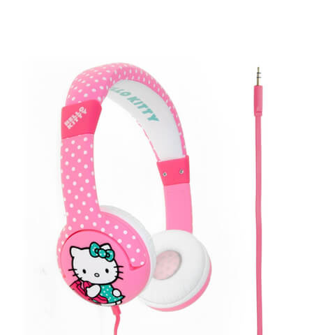 Hello Kitty Children's On-Ear Headphones - Hot Polka Dot
