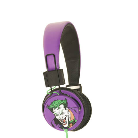 Batman The Joker Folding On-Ear Headphones - Black Logo