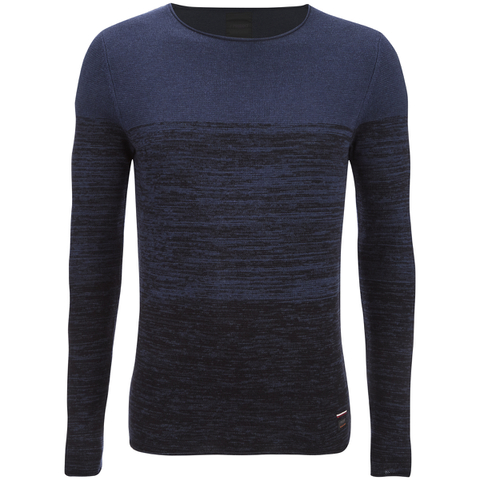 Produkt Men's Basket Contrast Graded Jumper - Dress Blue