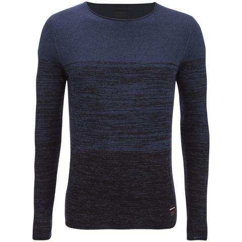 Produkt Men's Basket Contrast Graded Jumper - Dress Blue