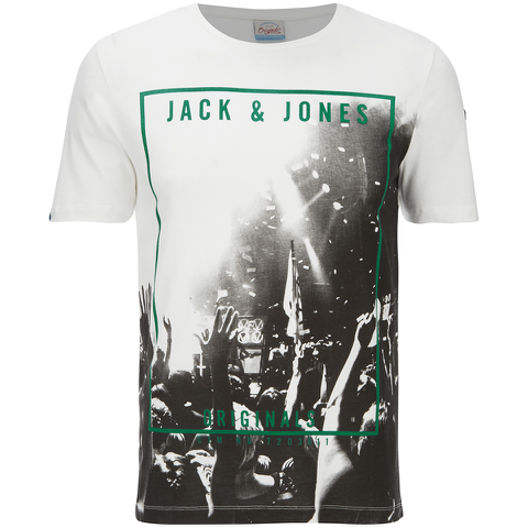 Jack & Jones Herren Originals Coffer T-Shirt - Weiß/Purple