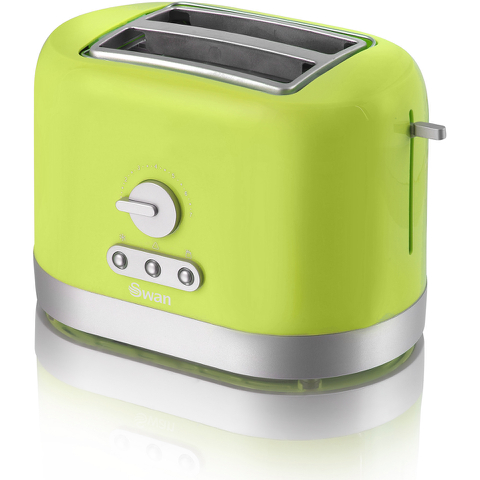 Swan ST10020LIMN 2 Slice Toaster - Lime