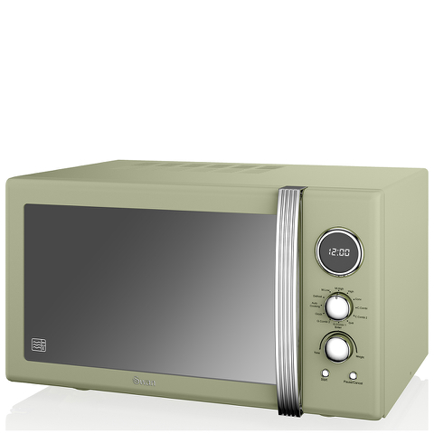 Swan Retro 25L Digital Combi Microwave with Grill - Green