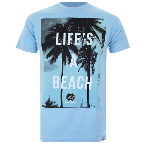 T-Shirt Homme Hot Tuna Life's A Beach -Bleu Ciel