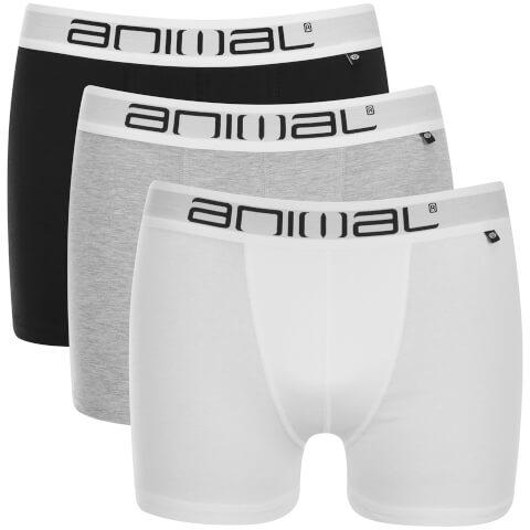 Animal Men's Asta 3 Pack Boxers - White/Black/Grey