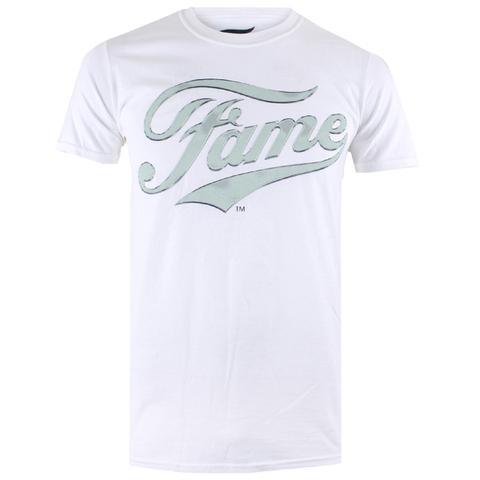 Fame Mens Logo T-Shirt - Wit