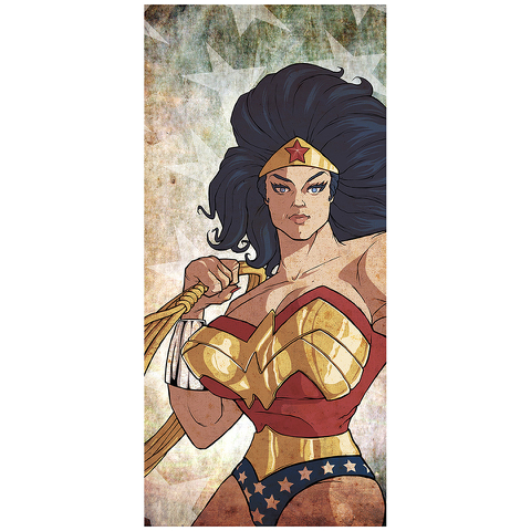 Affiche inspiration Wonder Woman 42cm x 24 cm