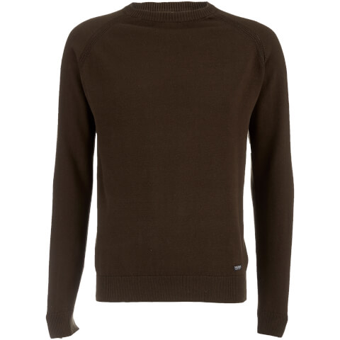 Threadbare Men's Tuscan Raglan Jumper - Sage Green