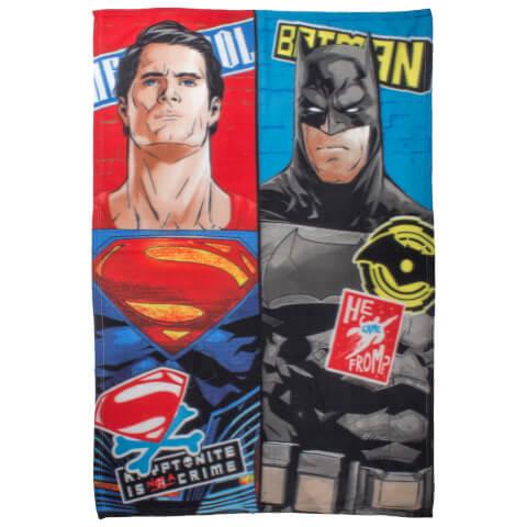 Plaid en Polaire Batman v Superman - 120 x 150cm