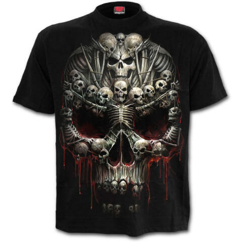 Spiral Men's DEATH BONES T-Shirt - Black