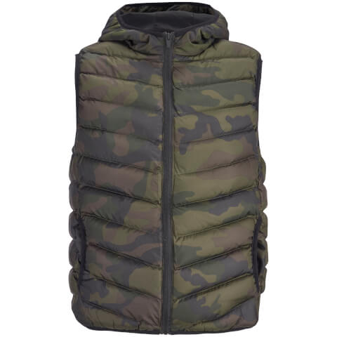 Brave Soul Men's Blackburn Camo Padded Gilet - Camo