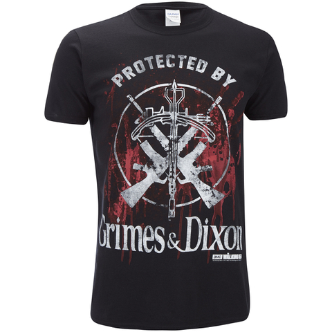 The Walking Dead Mens Grimes & Dixon T-Shirt - Zwart