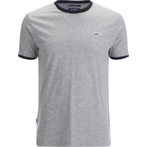 Le Shark Men's Davenant Ringer Crew Neck T-Shirt - Light Grey Marl