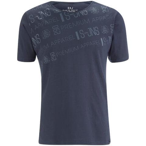 Smith & Jones Men's Reredox Print T-Shirt - Navy
