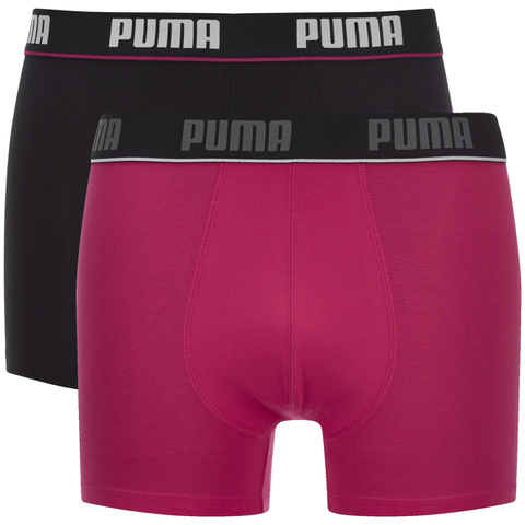 Puma Men's 2-Pack Boxers - Pink/Black