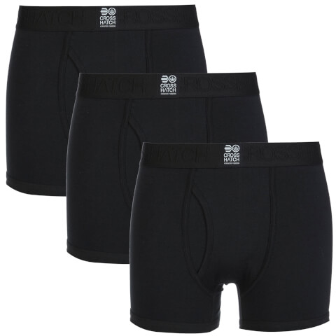 Lot de 3 Boxers Crosshatch -Noir