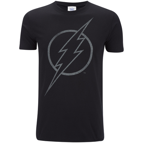 DC Comics Mens The Flash Line Logo T-Shirt - Zwart