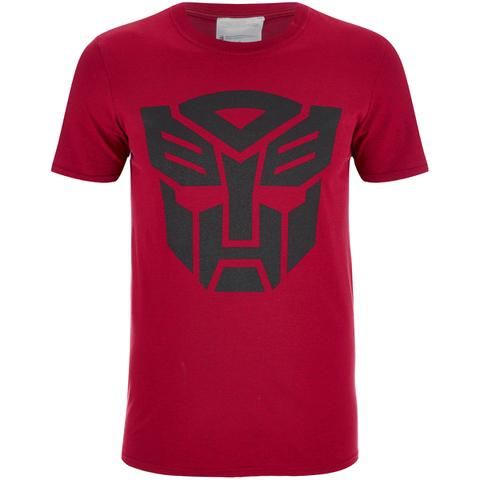 Transformers Mens Transformers Zwart Emblem T-Shirt - Red