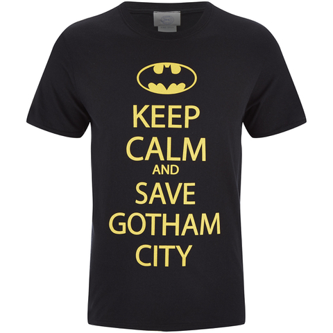 T-Shirt Homme DC Comics Batman Keep Calm - Noir