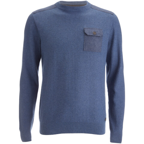 Threadbare Men's Karlson Crew Neck Jumper - Denim Marl