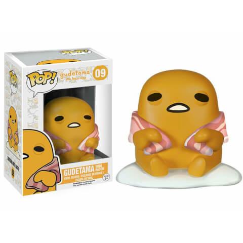 Figurine Sanrio Gudetama avec Bacon Funko Pop!