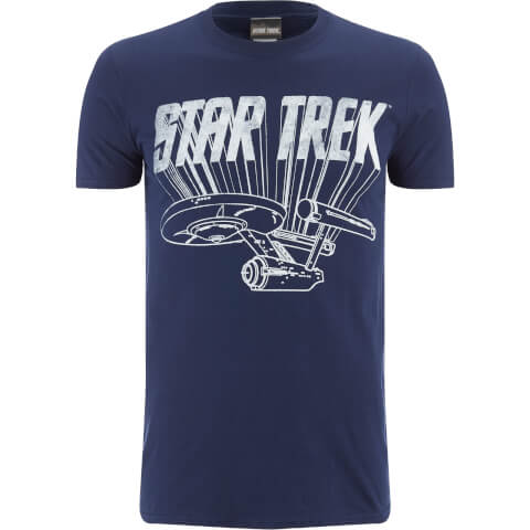 Star Trek Original Enterprise Heren T-Shirt - Zwart
