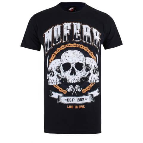 T-Shirt Homme No Fear Tête de Mort Homme -Noir