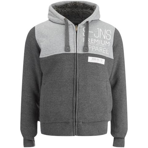 Smith & Jones Men's Enfilde Zip Through Hoody Jacket - Mid Grey Marl
