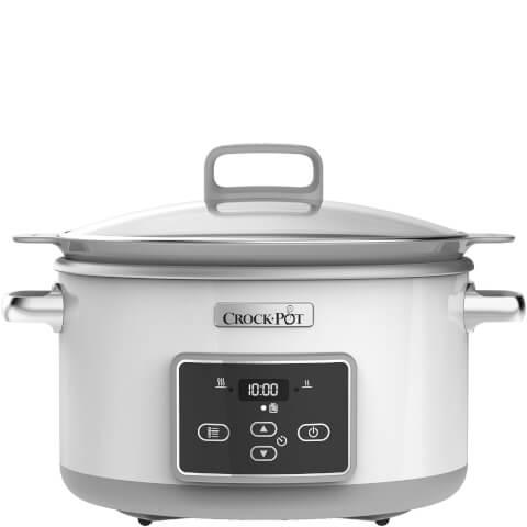 Crock-Pot CSC026 4.7 Litre DuraCeramic Saute Slow Cooker - White
