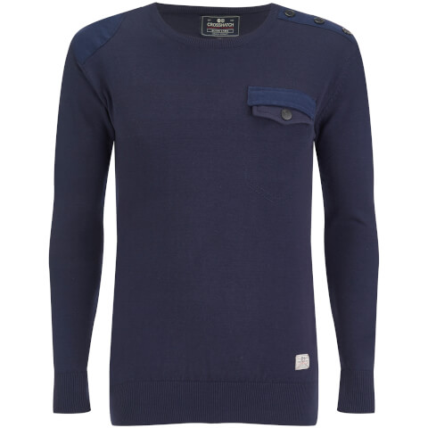 Pull Crosshatch pour Homme Barrowell -Marine