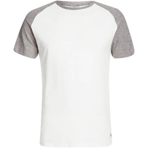 Jack & Jones Men's Originals Stan Raglan T-Shirt - Cloud Dancer/LGM