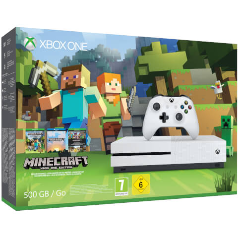 Xbox One S 500GB Console - Includes Minecraft Favourites Bundle