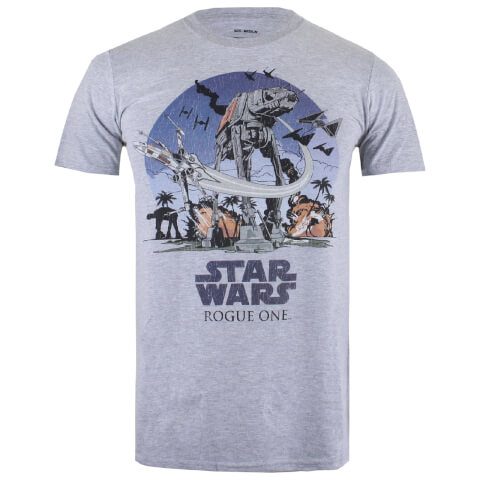 Star Wars Herren Fight Scene T-Shirt - Sport Grau