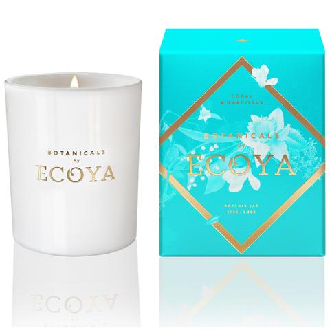 ECOYA Botanicals Evolution Coral and Narcissus Candle - Botanic Jar