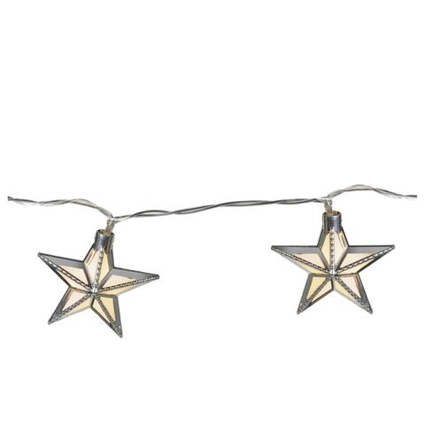 Guirlande Lumineuse à Étoiles -Argenté (24 Étoiles)