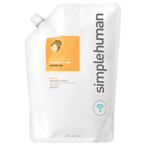 simplehuman Liquid Hand Soap Refill Pouch - Mandarin Orange 1L