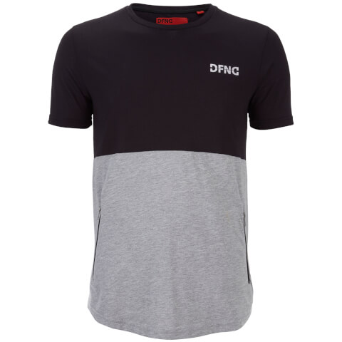 DFND Men's Half Panel T-Shirt - Black/Grey