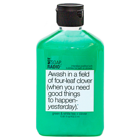 Not Soap Radio Awash in a field of four-leaf clover (when you need good things to happen- yesterday) Bubbles for Bath/Shower 402.5ml