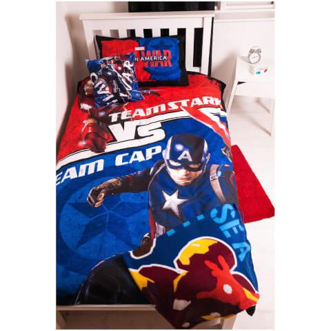 Parure de Lit + Plaid Captain America: Civil War