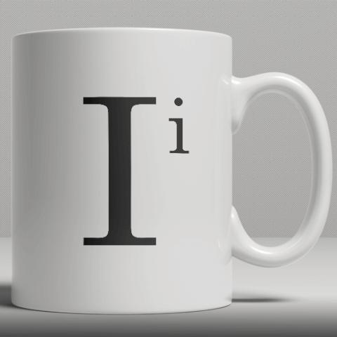 Alphabet Ceramic Mug - Letter I