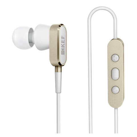 KEF M100 Earphones - Champagne Gold