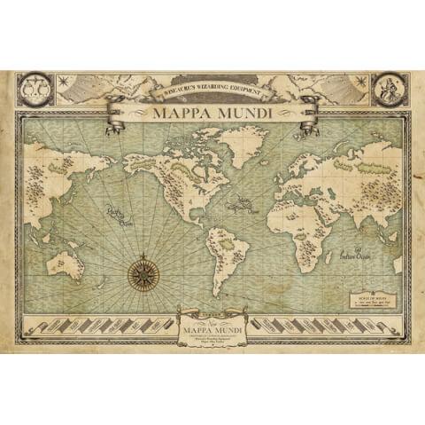 Fantastic Beasts Map Maxi Poster - 61 x 91.5cm