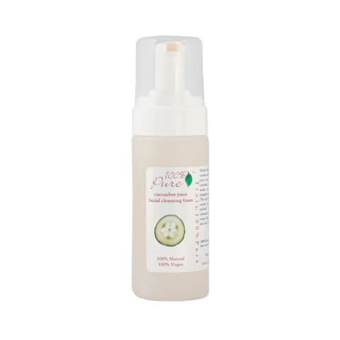 100% Pure Organic Cucumber Juice Facial Cleansing Foam