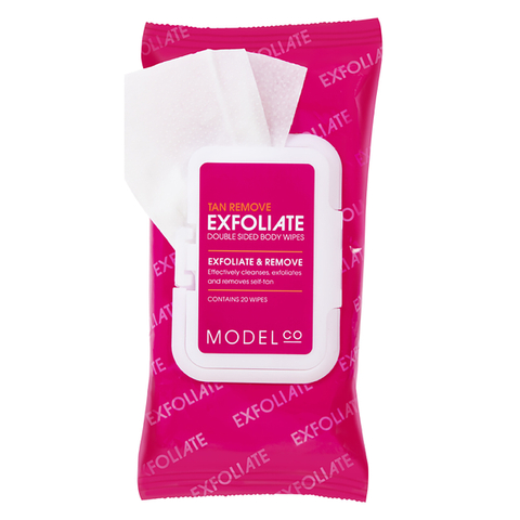 ModelCo Exfoliate Double Sided Body Wipes
