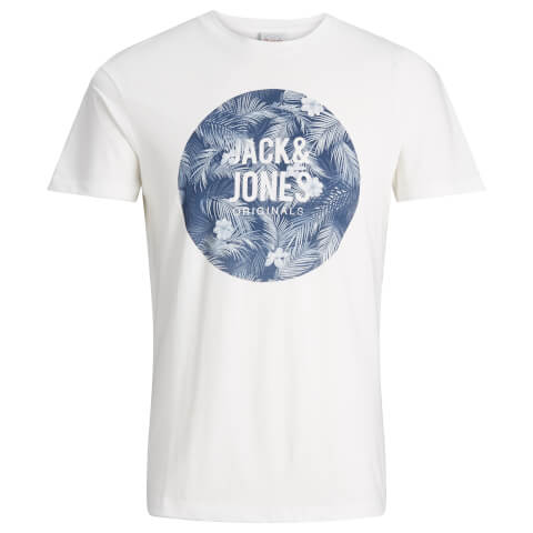 T-Shirt Homme Originals Newport Jack & Jones -Blanc