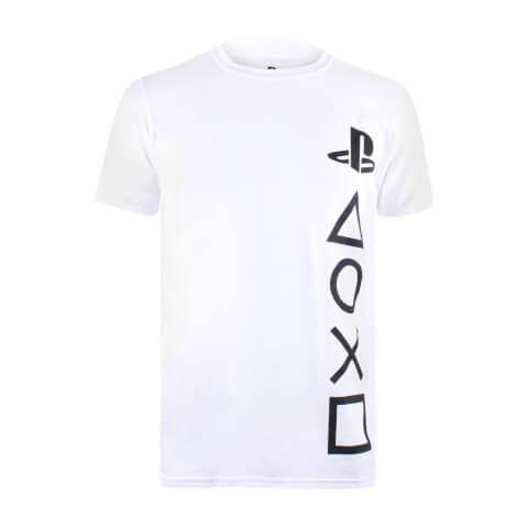 T-Shirt Homme Symboles PlayStation - Blanc