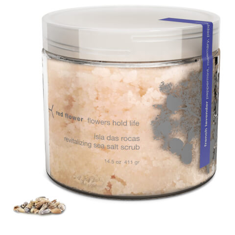 Red Flower French Lavender Isla Das Rocas Revitalizing Sea Salt Scrub