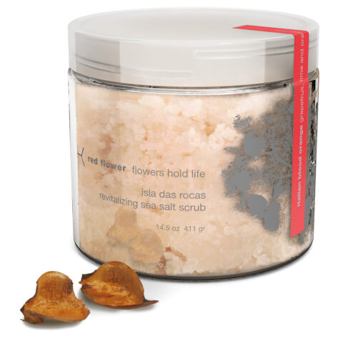 Red Flower Italian Blood Orange Isla Das Rocas Revitalizing Sea Salt Scrub