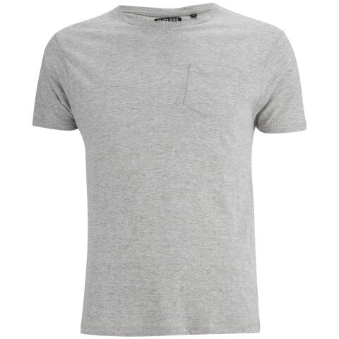 Brave Soul Men's Arkham Pocket T-Shirt - Grey Marl