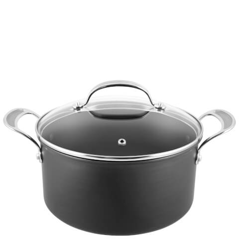 Jamie Oliver by Tefal H9024644 Hard Anodised Non-Stick Stewpot With Lid - 24cm